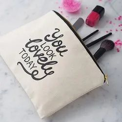 Printed Cosmetic Cotton Bag