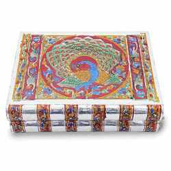 Metal Meenakari Work Jewellery Box -174