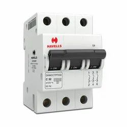 Three Phase 415 V Havells Electric MCB