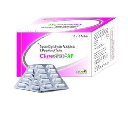 Trypsin Aceclofenac Paracetamol Tablet