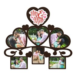 Plastic CF 5 Love Collage Frame, Size: 14x16 Inches