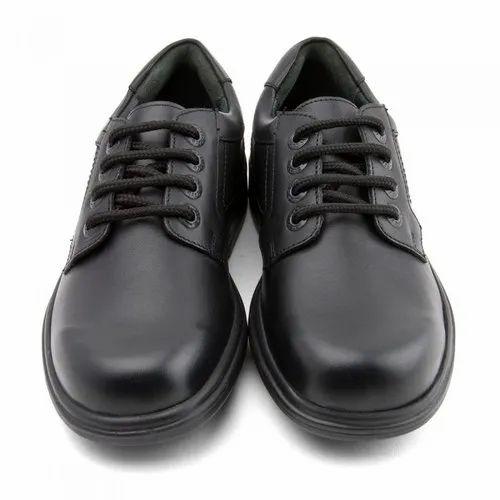 Hitshot Black School Shoes, Size: Small