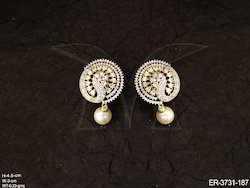 Dancing Peacock Shape American Diamond Earrings