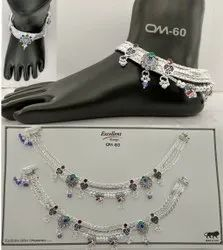 Fancy Silver Payal Or Anklets