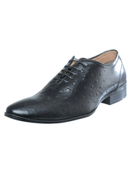 Black Leather Shoes, Size: 39-44