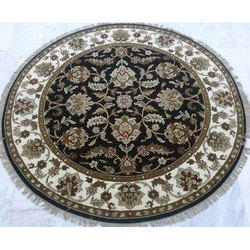 Hand Knotted Round Floor Carpet