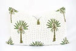 Handblock Kantha Pillow Covers