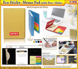 Eco Sticky-Memo Pad with Ball Pen H-806