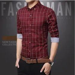 JK Lifestyle Cotton Men Checks Casual Shirt, Size: S-m-l-xl