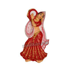 Wall Hanging Of Village Lady Playing Tambourine