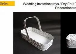Iron Metal Gift Basket, For Gifting, Size/Dimension: 11*5.5 Inches