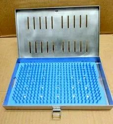 Sterilization Tray Stainless Steel With Silicon Mat