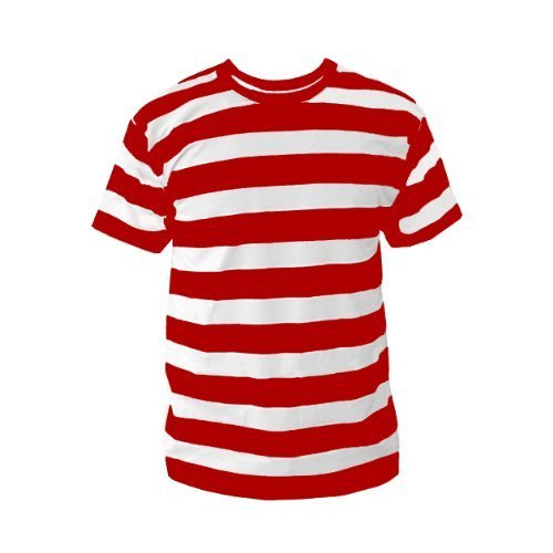 ce1aef798d4c0 All Sizes Red And White Men  s Striped T-Shirt
