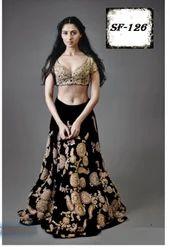 Designer Party Wear Velvet Lehanga