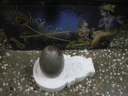 Narmada Shivling Stone Religious Shiva Lingam Narmada Swayambhu puja
