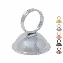 Stainless Steel Metal Table Stand Ring Style Menu Card Holder