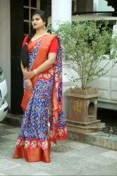 Printed Pochampally Ikkat Cotton Sarees