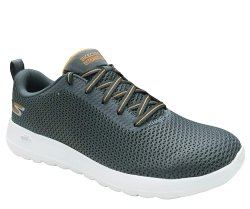 Skechers Go Walk Max 54601-CCOR Sneaker Grey/Oragne, Size: 8