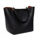 Ik Trading Black Designer Ladies Hand Bag