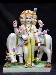 Lord Duttatreya Marble Statue