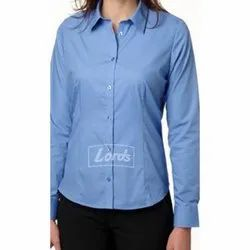 cotton and linen checks and plains womens formal shirt, For Alll