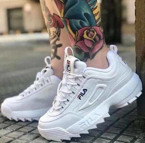 Toppkvalité 50% rabatt köpa billigt Mid Ankle Men FILA Pure White Shoes, For Regular, Size: 7-10, Rs ...