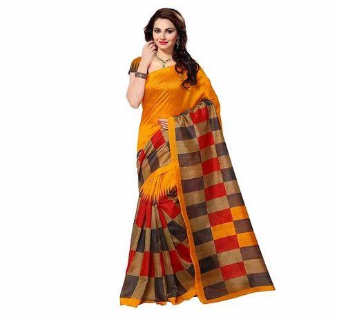 c6f30b13a3 Multicolor Ofs1723 Buyonn Art Silk Bhagalpuri Saree, Rs 299 /piece ...