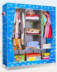 Portable Wardrobe, Perfect for Bedroom, Drawing Room Storage Cabinet Collapsible Clothes Storage Rack