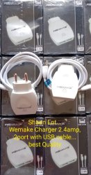 1 Meter White Mobile Charger