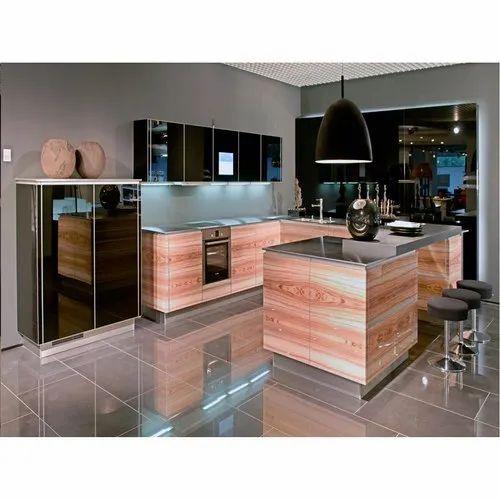 Plywood Designer U Shape Kitchen