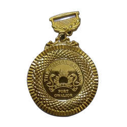 Round School Gold Plated Medal