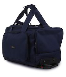 Blue Travel Bag with Trolley