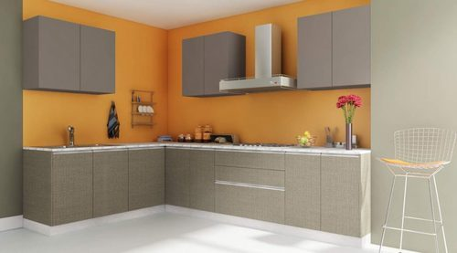 L Shape Wooden L Shaped Kitchen Service Rs 1200 Square Feet Maaya