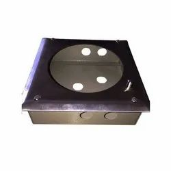 MS And SS Chrome Magnehelic MS Box, Thickness: 2mm