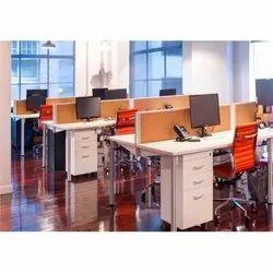 Orange Desking Workstation
