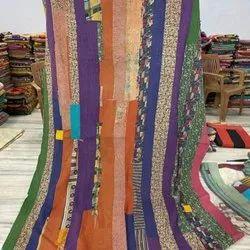 Multi Block Vintage Kantha Quilt