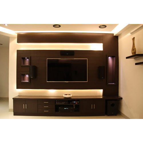 Brown Living Room Lcd Cabinet Rs 15000 Piece Gurmukh Timber Furniture Id 16135796991