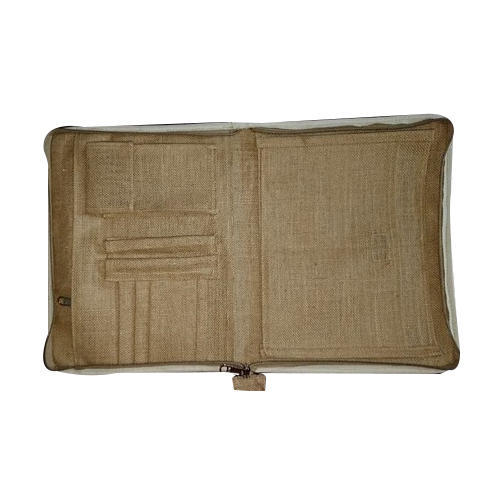 Zipper Jute File Folder