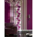 PVC Pink Floral Wall Covering