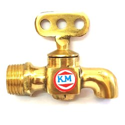 KM MK Brass Taper Water Tap, For Bathroom Fitting