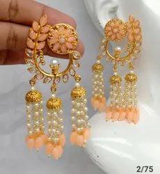 Gold Plated Golden Designer Earring