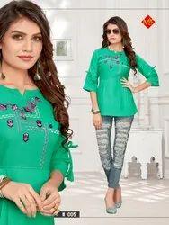 Mitali Fashion Pari Cotton Slub Short Top Collection