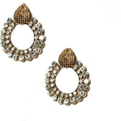 GS Traders Square Ladies Imitation Diamond Earring