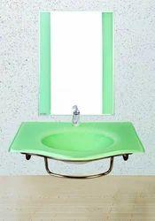 Glass Wash Basin Set