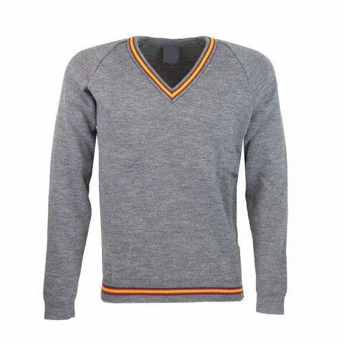 5dbfbe58ce73b6 Woolen Plain Full Sleeve School Sweater, Rs 250 /piece, Shantex ...