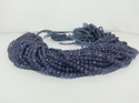 Natural Iolite Faceted Round Ball Beads Strand