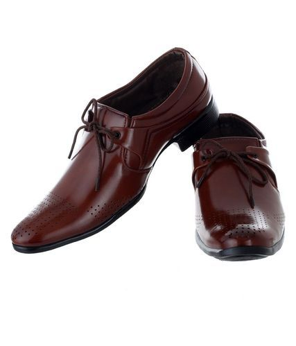 Formal And Party Wear Feetzone Brown Formal Shoes, Size: Uk 7 To 11