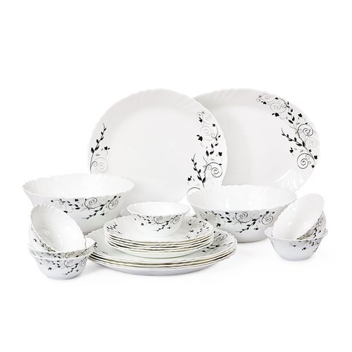 Ceramic, Glass CELLO Stylish Dinner Sets, Size: 27/19/13