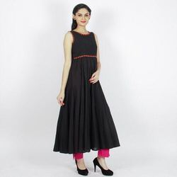 Anarkali Sleeveless Dobby Kurti