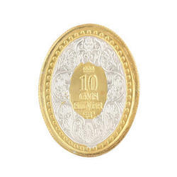 10 Grams Gold Plated Silver Coin